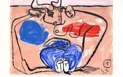 Accrochage « Unité » de Le Corbusier à la Galerie Arenthon