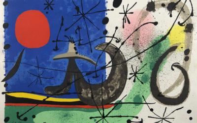 """Accrochage Joan Miró, """"Le Lézard aux plumes d'or"""", 1967"""