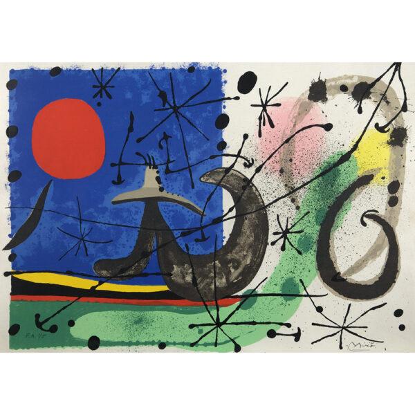 Miró Le lézard aux plumes d'or